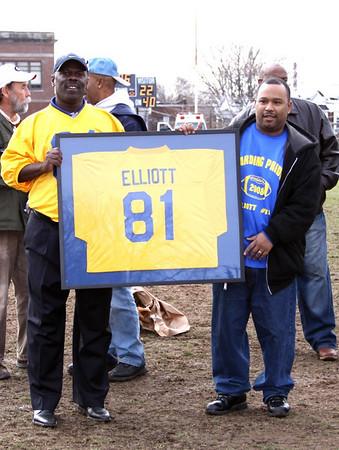 Ceremony to Retire # 81, The Jersey of Tony Elliott