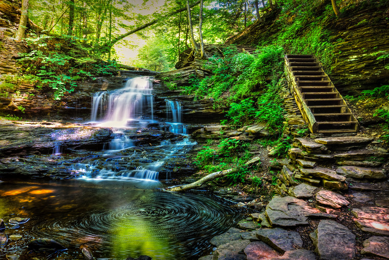Ricketts Glen - Onondaga Falls Long Exposure (p).jpg