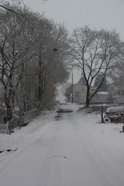 Snow, Elm St, Tamaqua (11-27-2012)
