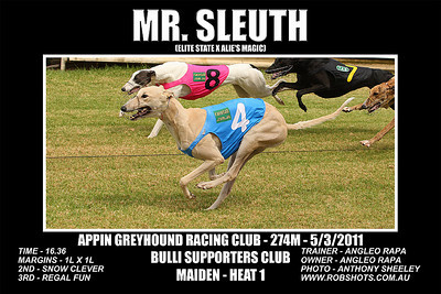 Appin Greyhounds - 5th March 2011