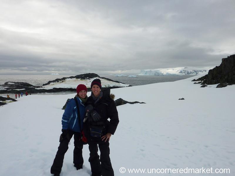 Dan and Audrey in Antarctica