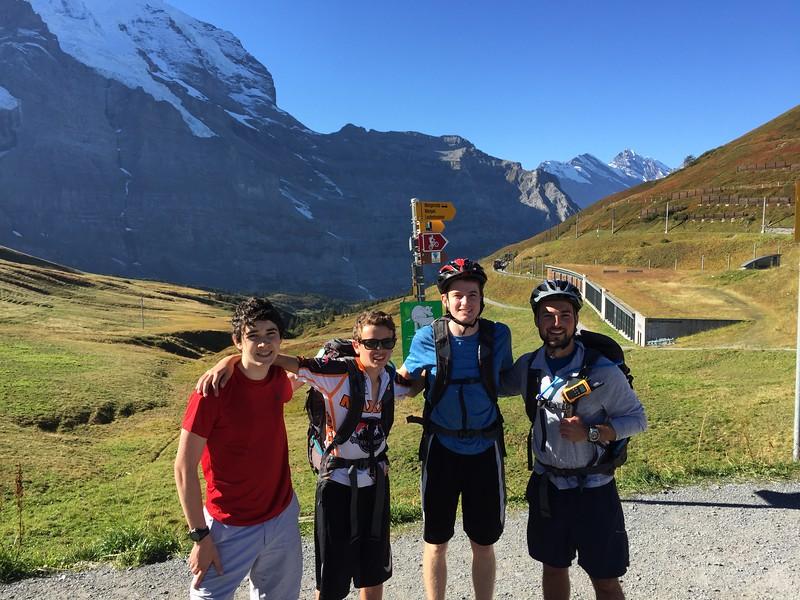 Eric, Jack, Henry, and Mr. Garczynski atop Kleine Schiedegg
