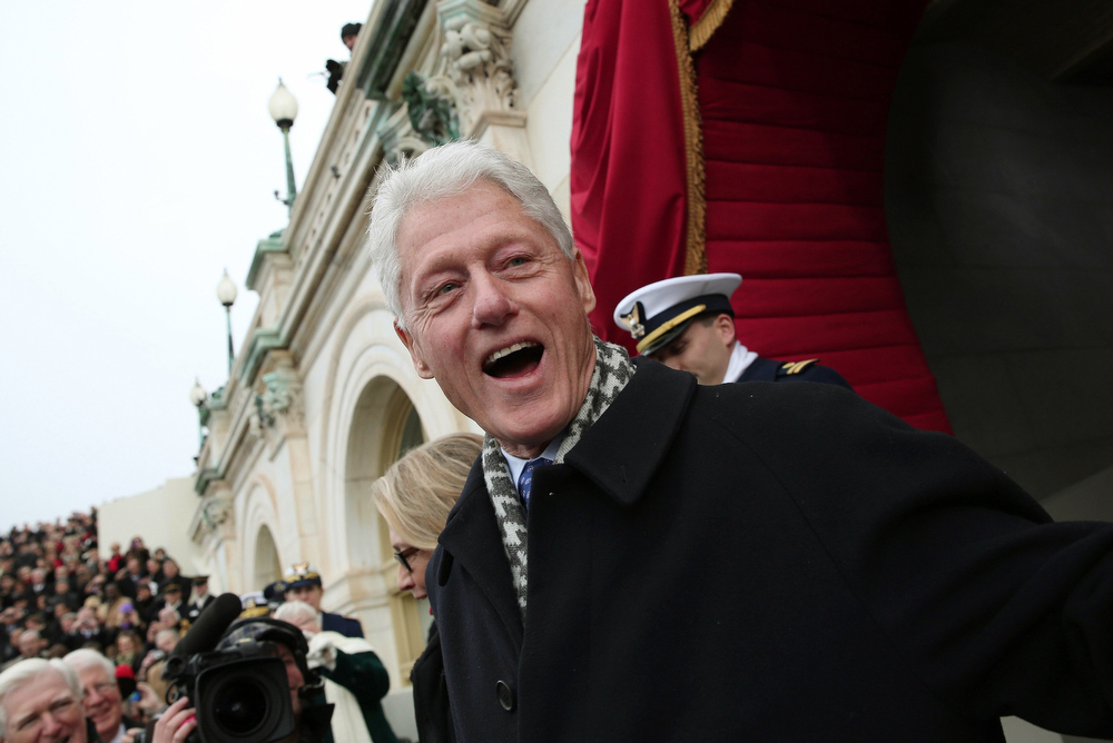 . Former U.S. President Bill Clinton arrives for the presidential inauguration on the West Front of the U.S. Capitol in Washington January 21, 2013.   REUTERS/Win McNamee/Pool