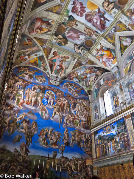 SIstine Chapel, ceiling and different wall