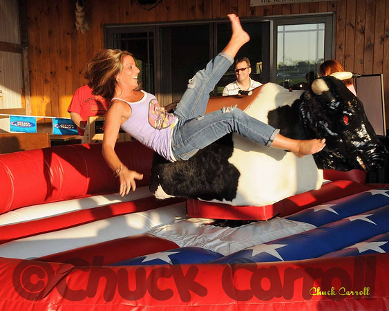 State College Bike Night  --  Mechanical Bull Riding - PA Roadhouse  --  August 5,2009
