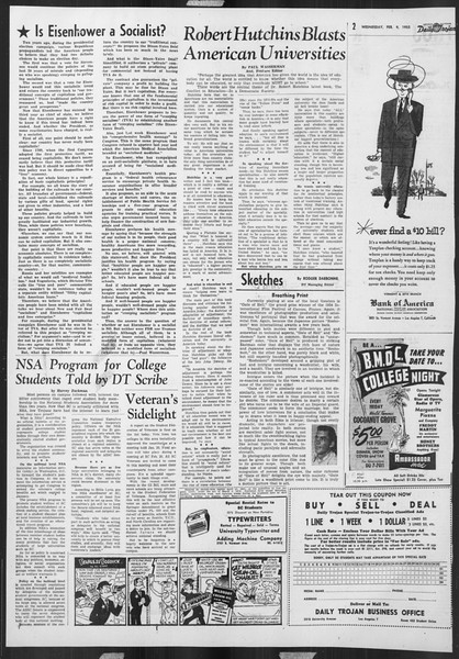 Daily Trojan, Vol. 46, No. 73, February 09, 1955