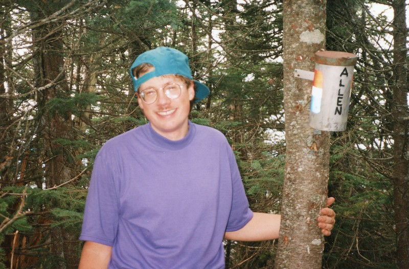 Picture of Mark when he became an Adirondack 46er on Allen Mountain.  Good picture but I didn't include it on the map.  Thanks Suzanne.