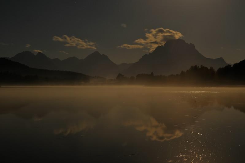Grand Teton National Park.  Early sunrise at the Oxbow.
