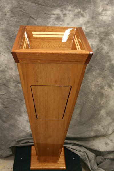Side view of stand alone pedestal with access door in place.