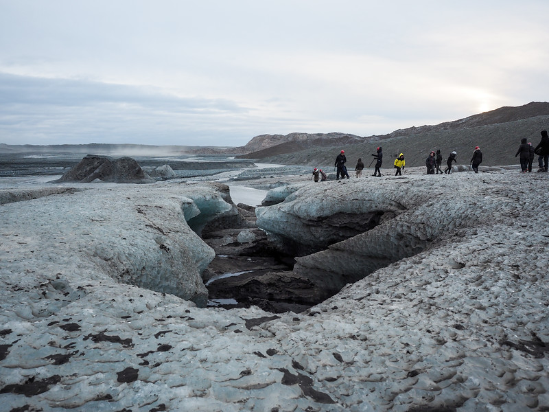 Hiking on Vatnajokull in Iceland