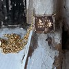 'For You I Live' 18kt Rose Gold Cast Rebus Pendant, by Seal & Scribe 4