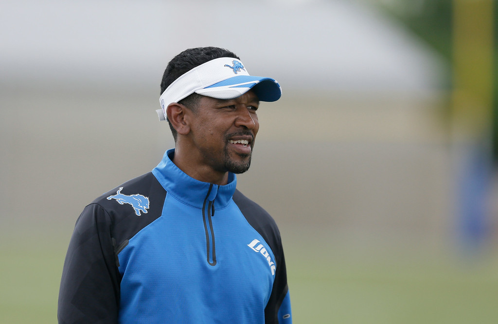 . Detroit Lions wide receivers coach Robert Prince is seen during an NFL football minicamp in Allen Park, Mich., Wednesday, June 11, 2014. (AP Photo/Carlos Osorio)