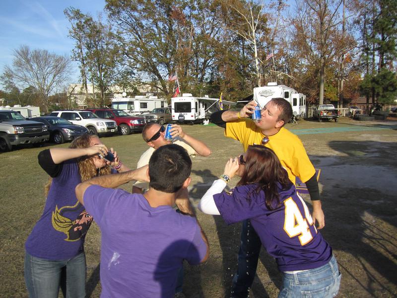 11/19/2011 ECU vs University of Central Florida - Lauren, JG, Missy, Chris