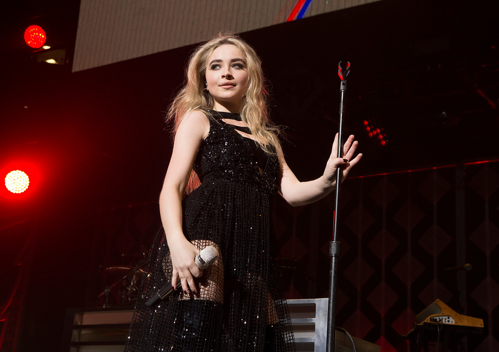 . Sabrina Carpenter performs in concert during Q102\'s iHeartRadio Jingle Ball 2017 at the Wells Fargo Center on Wednesday, Dec. 6, 2017, in Philadelphia. (Photo by Owen Sweeney/Invision/AP)