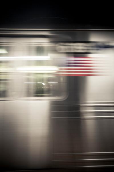 Flag on a train
