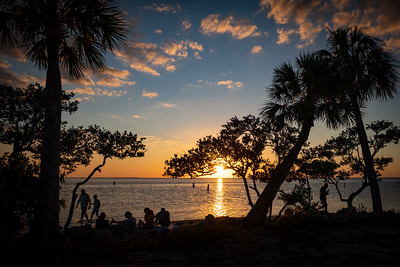 Sunset Peeking Through the Trees at Sunset Beach