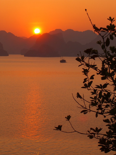 Sunset - Halong Bay, Vietnam