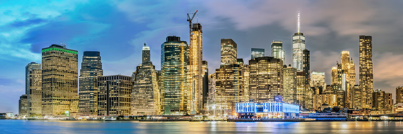New York City Panorama at Dusk 2