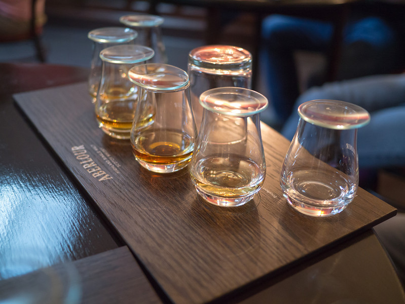 Whiskey tasting at Aberlour Distillery