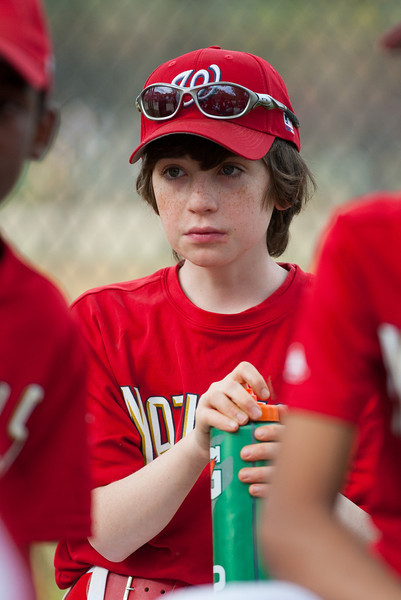 Sam post game. The Nationals started out their season with a 4-1 win over the Pirates. 2012 Arlington Little League Baseball, Majors Division. Nationals vs Pirates (14 Apr 2012) (Image taken by Patrick R. Kane on 14 Apr 2012 with Canon EOS-1D Mark III at ISO 400, f2.8, 1/1250 sec and 200mm)