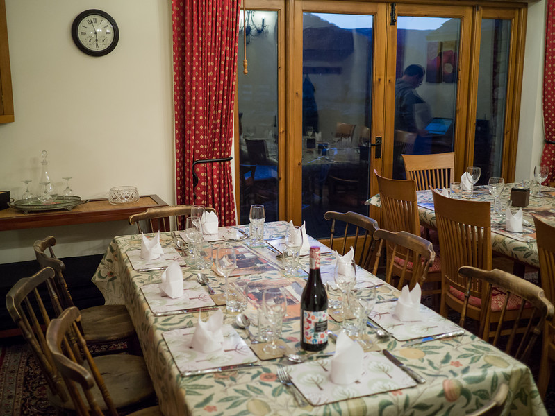 Setting the table for our Sunday dinner