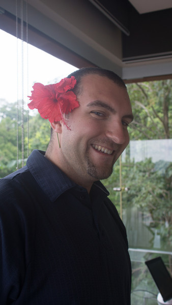 A Very Good Friend—Mike Standing in as the Flower Girl