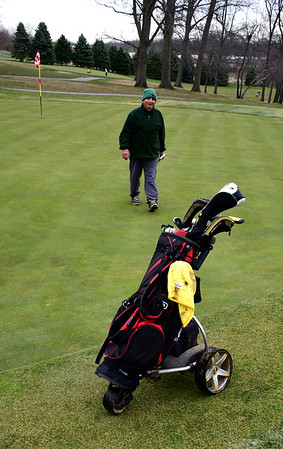 3/28/2020 Mike Orazzi | Staff Mike Capsalors while golfing at Stanley Golf Course in New Britain on Saturday.