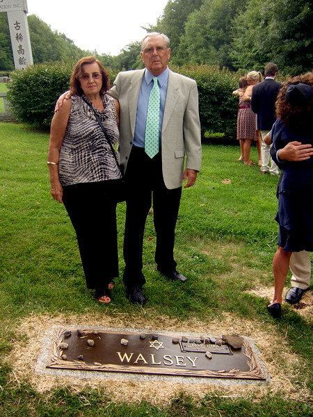 Elliot Walsey gravestone unveiling -