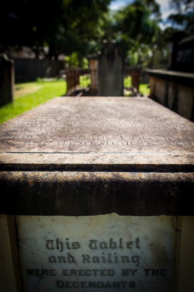 Grave of Soldier, Explorer and Road Builder, William Cox St Matthews Anglican Church, Windsor