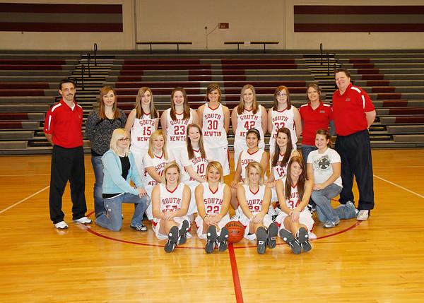 SNHS Girls Basketball Team 2010