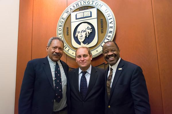 4/10: Professor Robert Cottrol, Adrian Gonzalez, and Dean Morant
