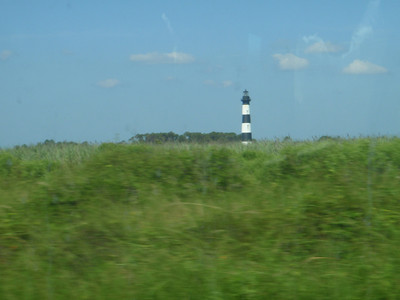 Driving off Hatteras Island 7-4-09