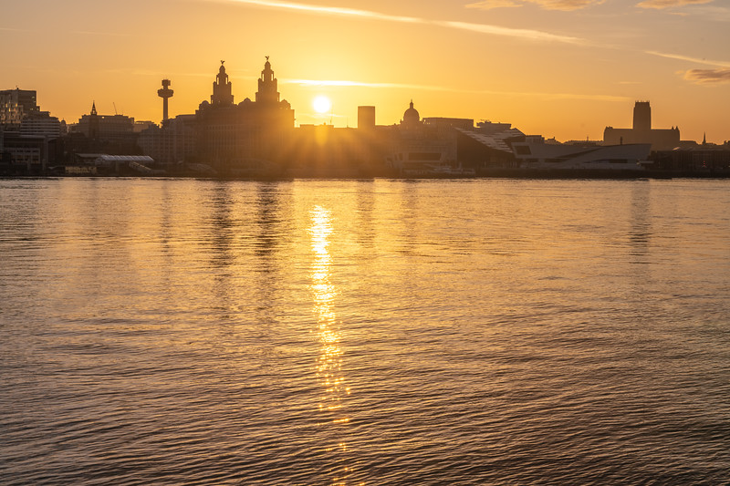 Sunrise over Liverpool Waterfront