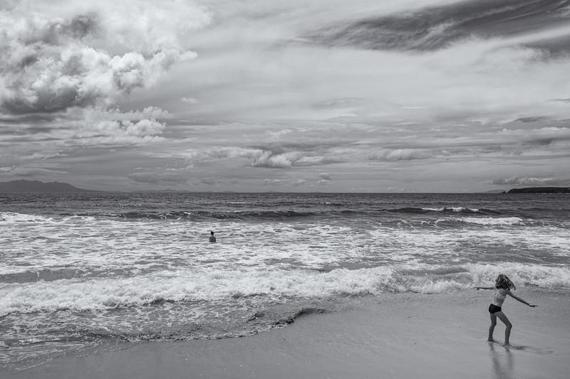 Girl, Omaha Beach, Boxing Day, 2014