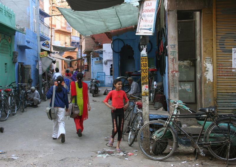 the back streets.  jodhpur, rajasthan