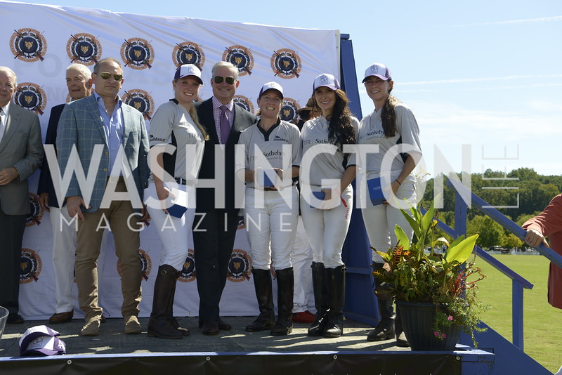 TTR Sotheby's Team Danielle Quinn, Mark Lowham, Terri Campbell, Cristina Parr, Isabella Wolf,  NSLM 2019 Polo Classic Great Meadow Sep 15 2019 Photo by Nancy Milburn Kleck