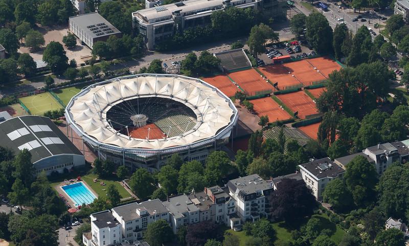 Luftaufnahme Centrecourt Tennis Rotherbaum