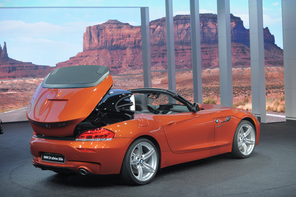 . The BMW Z4 sDrive is introduced at the 2013 North American International Auto Show in Detroit, Michigan, January 14, 2013. AFP PHOTO/Stan HONDASTAN HONDA/AFP/Getty Images