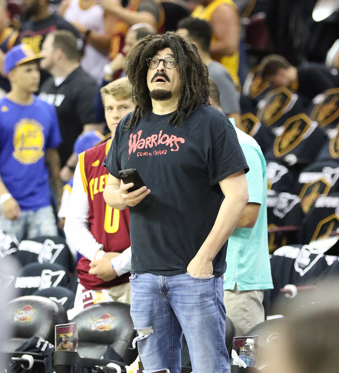 . Tim Phillis - The News-Herald Adam Duritz of the Counting Crows at Game 4.