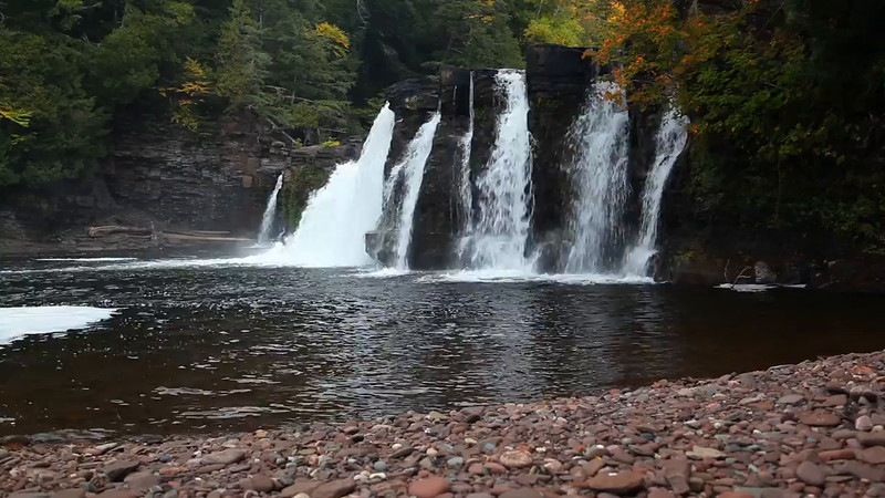 Manabezho Falls (Porcupine Mountains State Park)