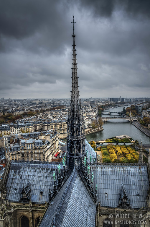 Spire of  Notre Dame - Photography by Wayne Heim