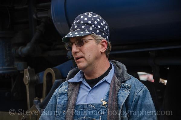 Engineer Chris Bost Reading, Blue Mountain & Northern Pottsville, Pennsylvania November 30, 2014