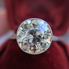 3.45ct Edwardian Old European Cut Diamond Bezel Ring 4