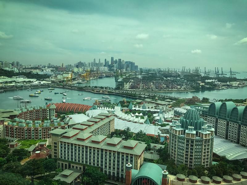 singapore from sentosa island
