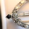 Art Deco Diamond and Onyx Brooch 16