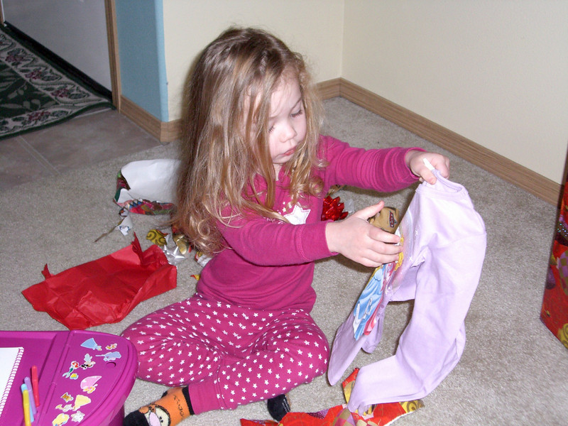 Christmas morning - opening presents