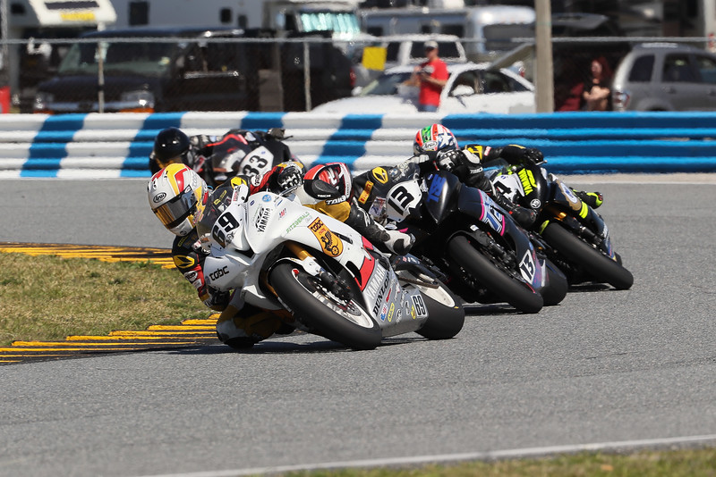 Action shot from the 2017 AMA-sanctioned Daytona 200.