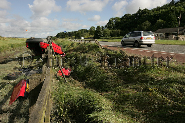 The scene at the dual carriageway after the crash on Wednesday morning. 07W31N1