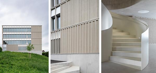 Schulhaus Pfeffingen, Fassade, Wendeltreppe