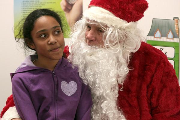 Santa visits North Hills Community Center
